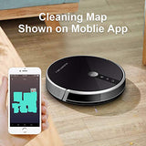 LIECTROUX C30B Robotic Vacuum Cleaner 2D Map Navigation, 3000Pa Suction, Smart Memory, Map Shown on WiFi App, 350ml Electric Water Tank, Wet Mopping