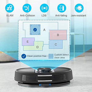 Proscenic M7 Robot Vacuum Cleaner, Laser Navigation, App & Alexa, 2600 Pa Powerful Suction, Carpet Boost, Electronically-Controlled Water Tank for Carpet & Hard Floors, Blue
