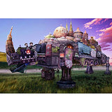 JW-MZPT Rhino Castle Puzzle, Develop Intellectual Educational Toys, Decompression Creative Gift Wooden,5000pieces
