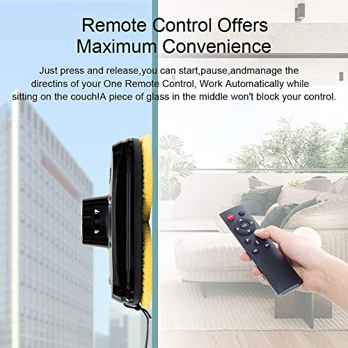 Cop Rose X5P Window Cleaner, Smart Robotic Window Cleaner for Glass Cleaning, Vacuum Robotic Robot by Remote Controler Washer for High Windows Ceiling Mabetic Aomatic Home, 1 Year Warranty (Black)