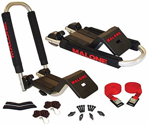 Malone Downloader Folding J-Style Universal Car Rack Kayak Carrier with Bow and Stern Lines (Pack of 1)