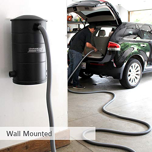 VacuMaid GV50BLKPRO Professional Wall Mounted Garage and Car Vacuum with 50 ft. Hose and Tools