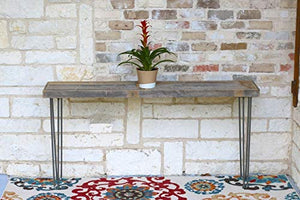 Industrial 60 Inch Natural Console Table