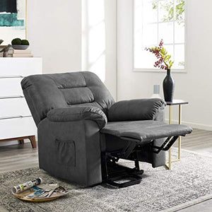 Naomi Home Fayette Power Lift Recliner Chair, Lift Chair for Elderly with Remote Gray