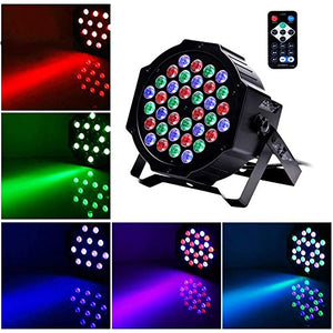U`King Uplights 36 LED RGB Par Lights by Sound Activated with Remote Controller Par Can Light and DMX512 Lighting Effects DJ Uplighting for Wedding Band Party - 8 Packs