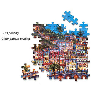 CSYY-YJ Retro Garage Art Puzzle 500/1000/1500/2000/3000/4000/5000/6000 Pcs Home Decoration Wooden Puzzle, Educational Toys Game for Adults and Children,6000PCS