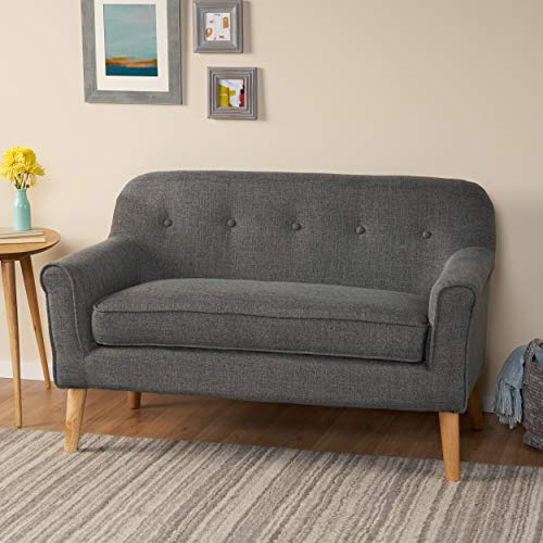 Christopher Knight Home Mariah Mid-Century Modern Loveseat, Grey