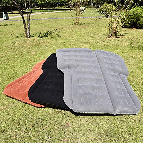 Leke Lake Inflatable SUV Air Mattress,Portable Car Bed for Outdoor Traveling,Multifunctional Air Bed for SUV Back Seat,Fit 95% SUV with Pump