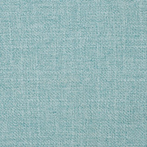 Christopher Knight Home Justus Mid-Century Modern Fabric Loveseat, Light Blue / Natural