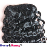 Rossy&Nancy Curly Clip In Claw Ponytail Hair Extension Human Hair Hairpiece Natural Black 12inch Color for Women