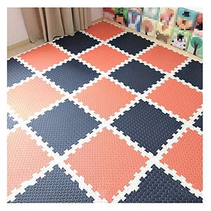 GHHQQZ Foam Puzzle Floor Tiles Baby Play Mat Color Design Free Stitching Indoor Outdoor Protective Flooring, 3 Colors, 60x60cm (Color : C, Size : 60x60x2.5cm-25pcs)