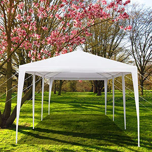 Mytunes 10'x30' Party Tent,Canopy Tent Party Wedding Event Tent Sturdy Steel Frame with 6 Sidewalls and 2 Doors, Waterproof Sun Snow Rain Shelter Gazebo