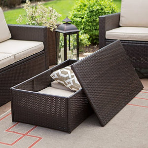Coral Coast Berea Outdoor Wicker Storage Coffee Table