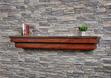 "Salem 48"" Fireplace Mantel Shelf - Aged Cherry"
