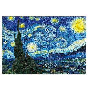 Wooden Puzzles for Children and Adults, World Famous Oil Paintings, Rhone River Under The Stars, 520,1000,1500,2000,3000,3700,5000,5700,5000