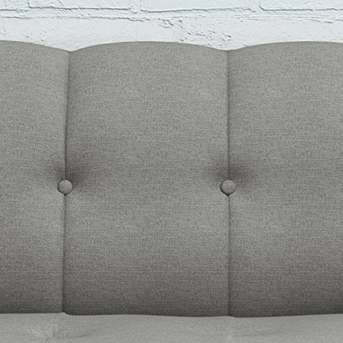 Christopher Knight Home Treston Mid-Century Fabric Sofa, Grey / Natural