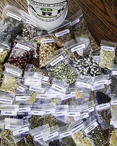 #1 HEIRLOOM & ORGANIC SEED KITARK SEED KITS All-In-One Seed Kit 100% Heirloom/Organic Seed Invest! Save! Heath! Store Up! 70 Varieties & 50,000+ Seeds of Fruits, Vegetables, Medicinal & Culinary Herbs