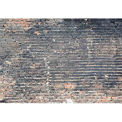wall26 - Dark Brick Background - Removable Wall Mural | Self-Adhesive Large Wallpaper - 100x144 inches
