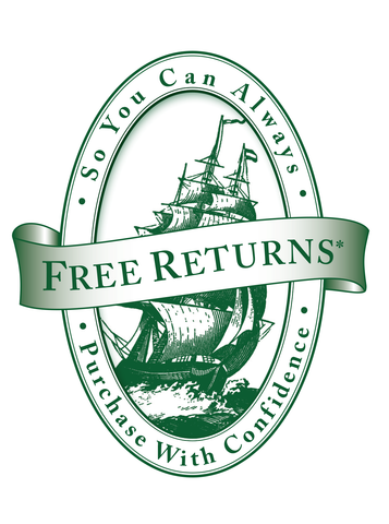 Free Returns - So You Can Always Purchase With Confidence