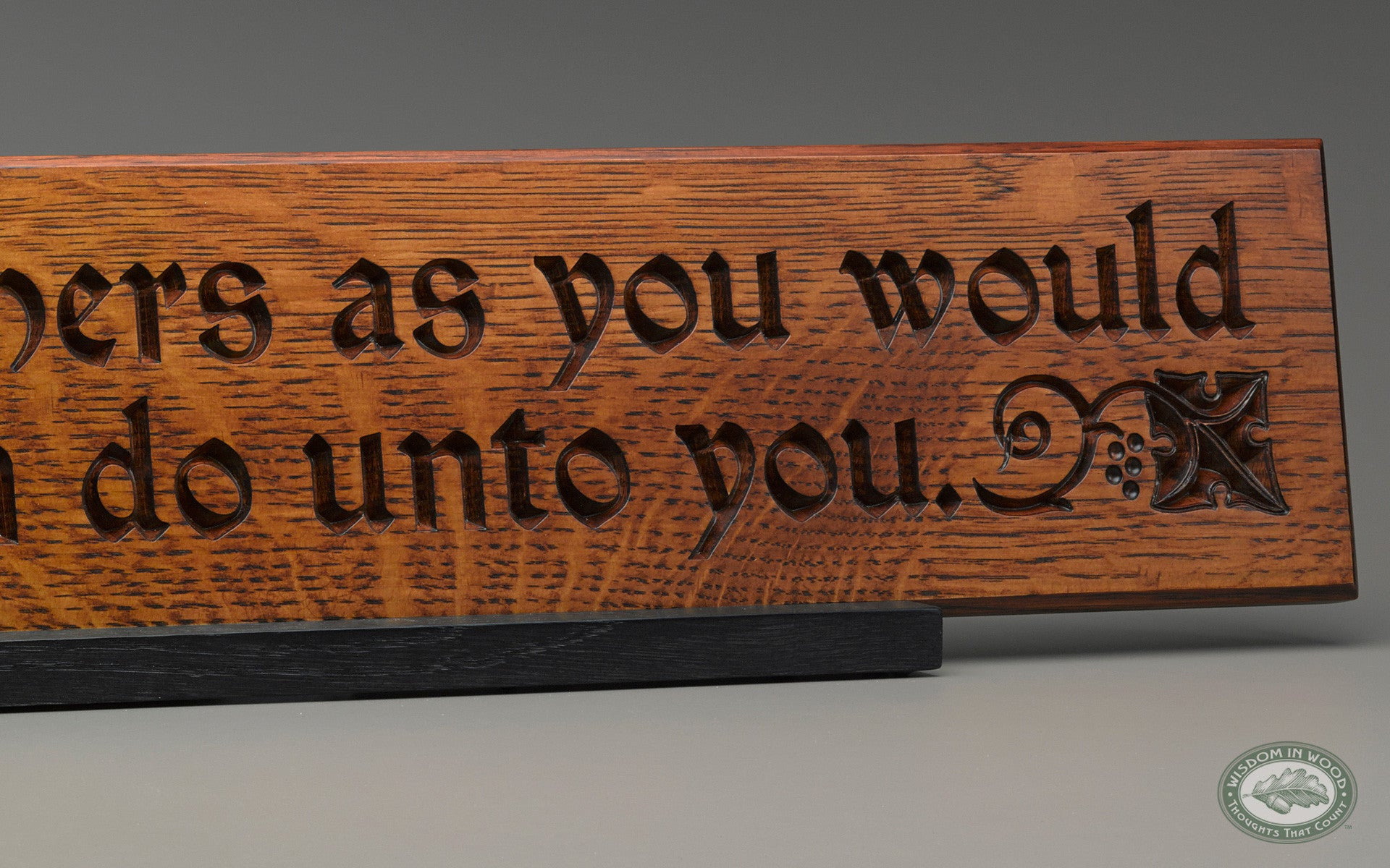 The golden rule quote as beautifully carved wall art for for Golden rule painting