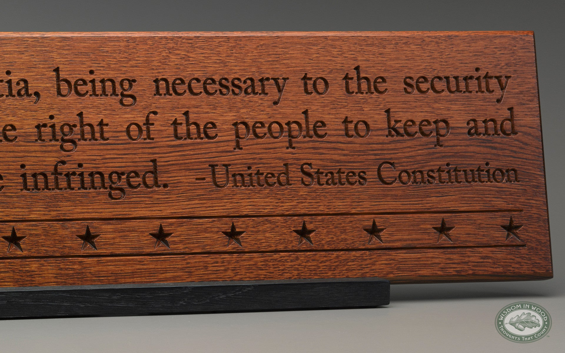 2Nd Amendment Quotes Second Amendment Carved Wall Art Quote Plaque  Good Thinking