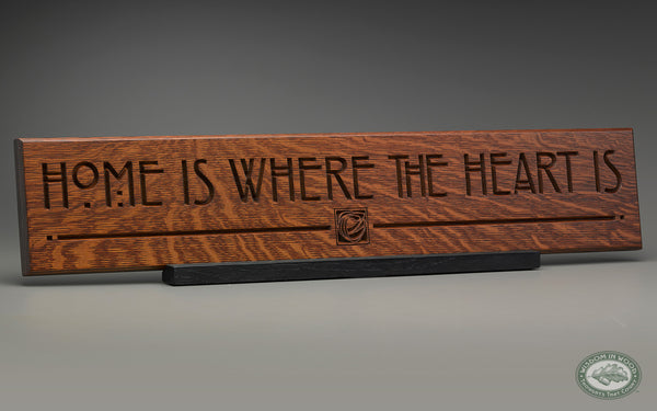 """""""Home Is Where The Heart Is"""", A Carved Wall Art Quote In"""