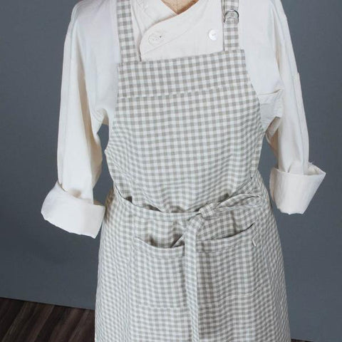 Kitchen  Apron Organic Cotton Gingham Check