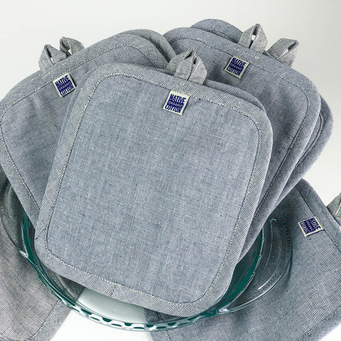 On Sale Kitchen Indigo Potholders