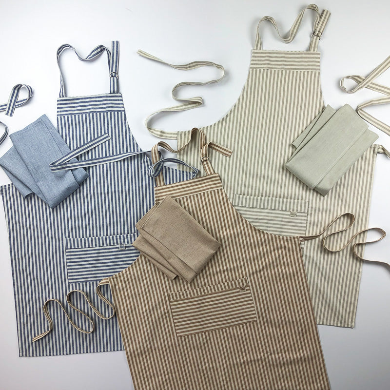 Kitchen Apron + Dish Towel Bundle
