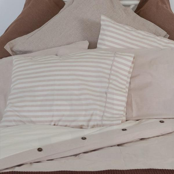 Wide Stripe Organic Cotton Sheet Sets