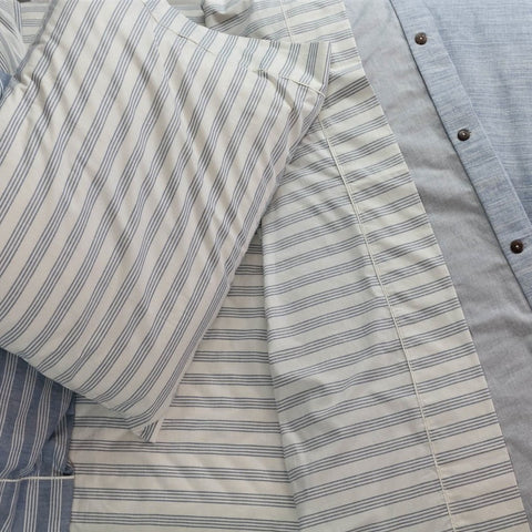 Retro Stripe Organic Cotton Bed Sheet Set