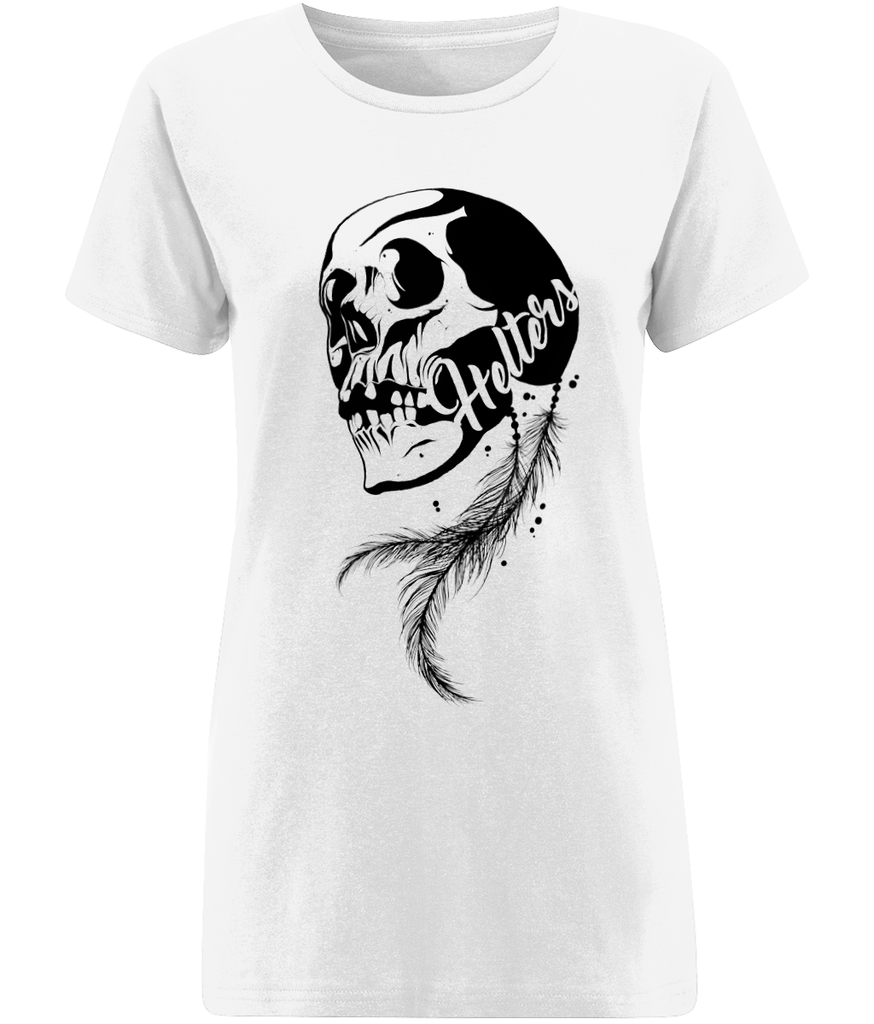 Women's 'Skull & Feather' T-Shirt