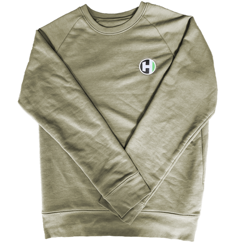 'H-Tag' Embroidered Raglan Sweater