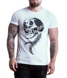 Men's Rolled Sleeve 'Skull & Feather' T-Shirt