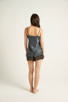 GINIA,Silk Short with Lace,Short