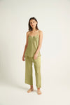 GINIA,Washable Silk Pant,Pants