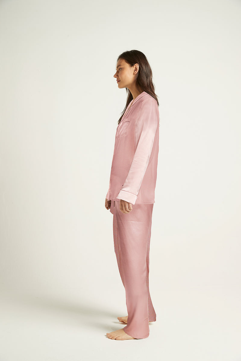 Fine Finish Silk Pyjama