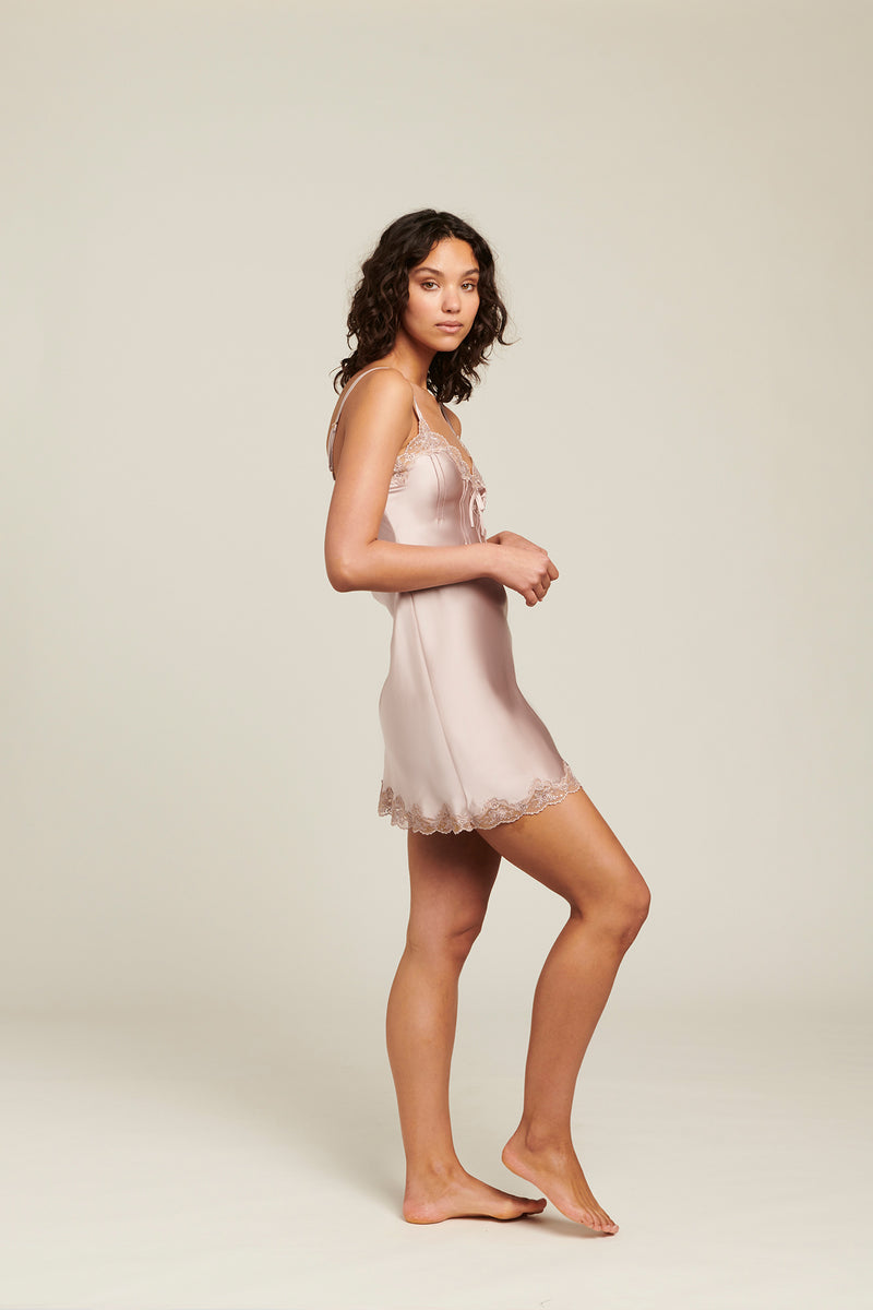 Silk Chemise With Pintucks