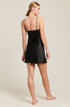 Black Silk V Neck Chemise