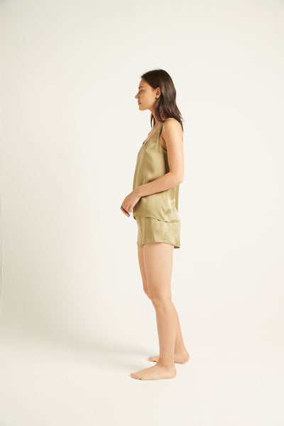 GINIA,PRE-ORDER Washable Silk Short,Short