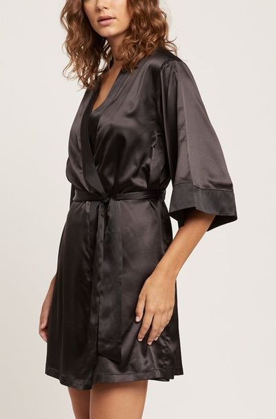 Black Camille Wrap Gown