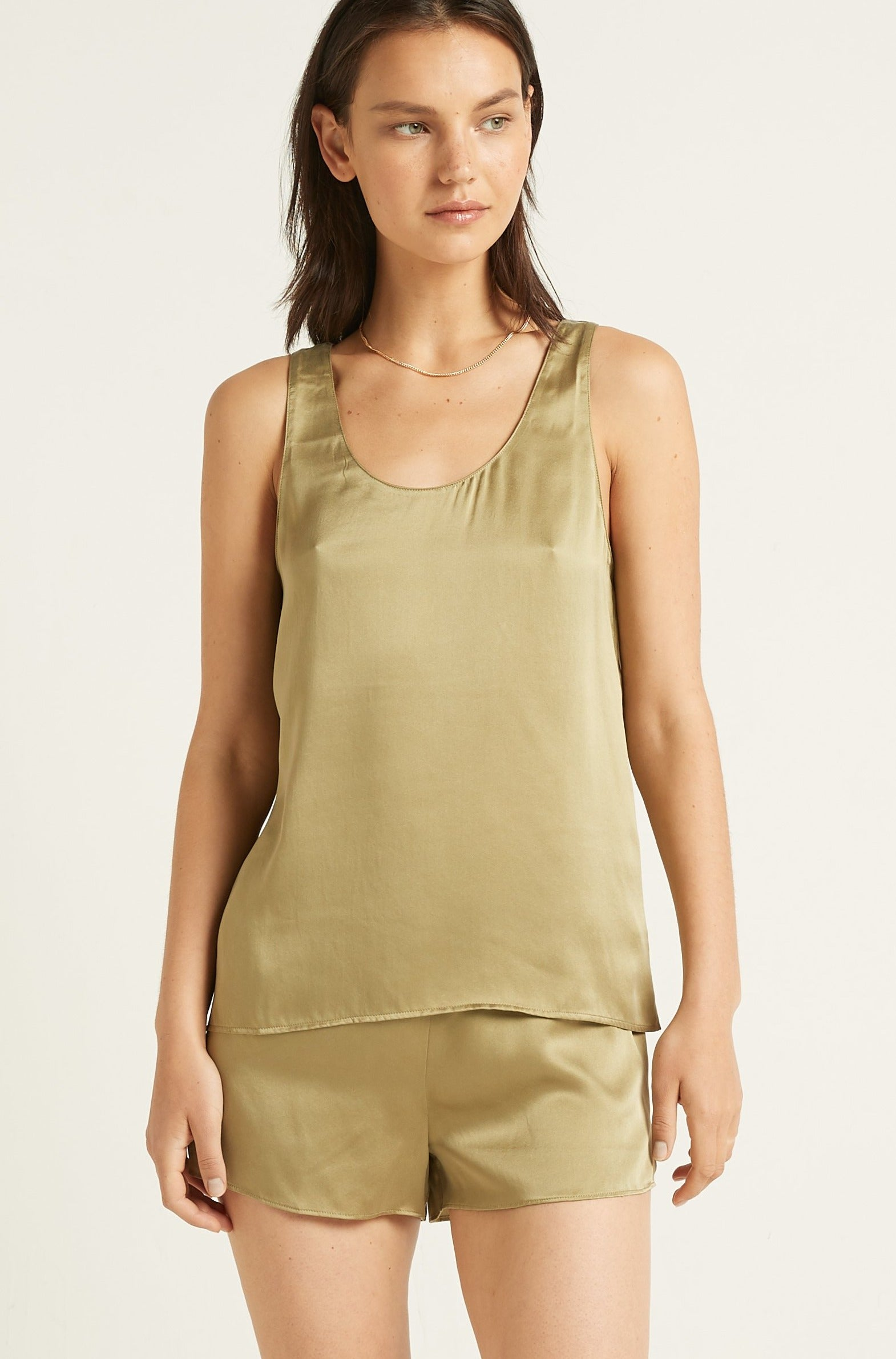 Washable Silk Tank