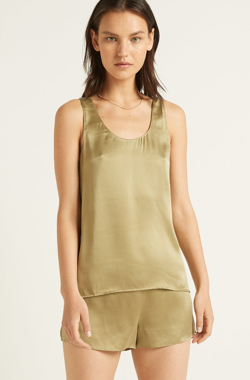 Ginia,PRE-ORDER Washable Silk Tank,Top