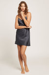 India Ink Silk Jacquard Chemise