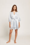 Ice Blue Washable Silk Leila Robe