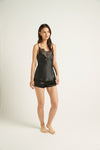Black Fine Finish Silk Short