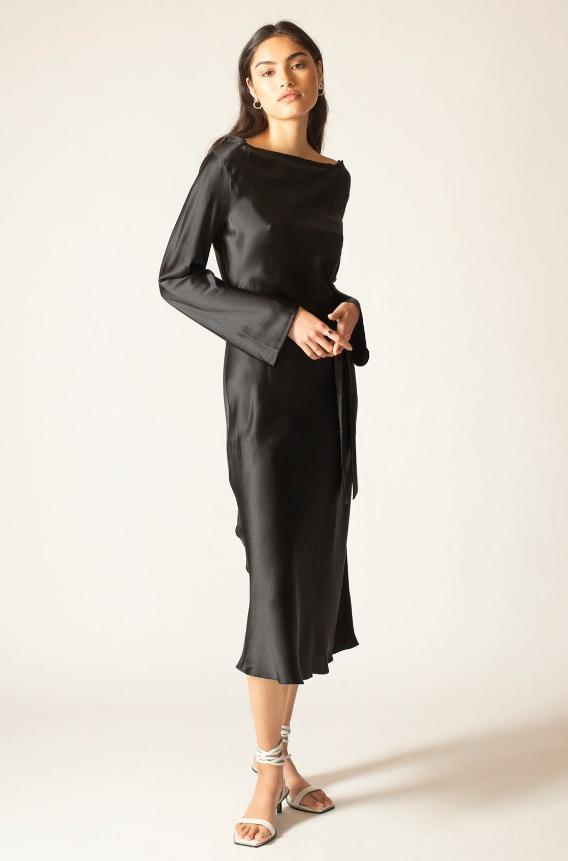 Black Onyx Ella Silk Satin Dress