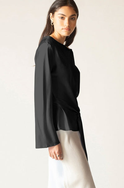 Ginia RTW,Ella Silk Satin Top,Tops