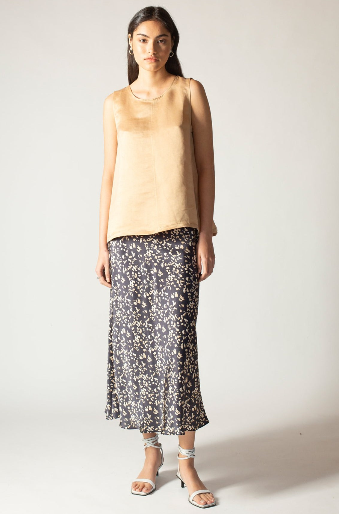 Stella Panthere Silk Skirt