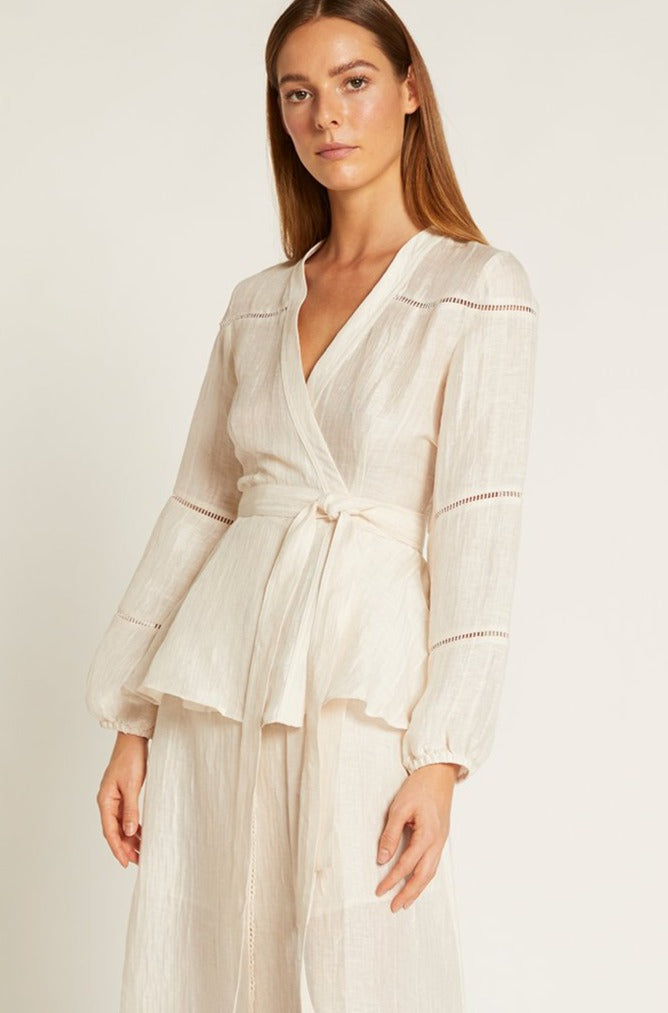 Ivory Luca Wrap Top
